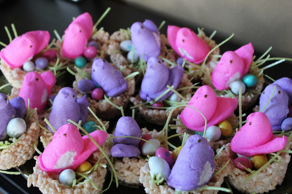 Easter Recipe: Birds Nest Rice Krispy Treats! | TidBitsofNutritions ...